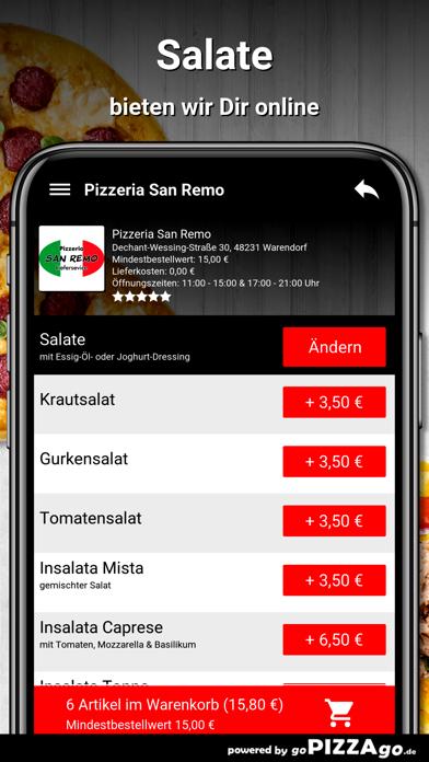 Pizzeria San Remo Warendorf screenshot 5