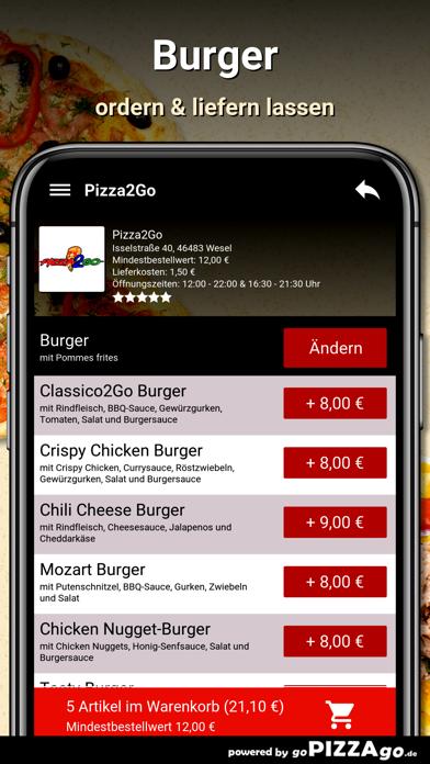 Pizza2Go Wesel screenshot 6