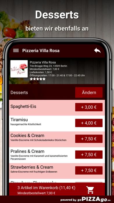 Pizzeria Villa Rosa Berlin screenshot 5