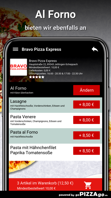 Bravo Pizza Express Jettingen screenshot 6