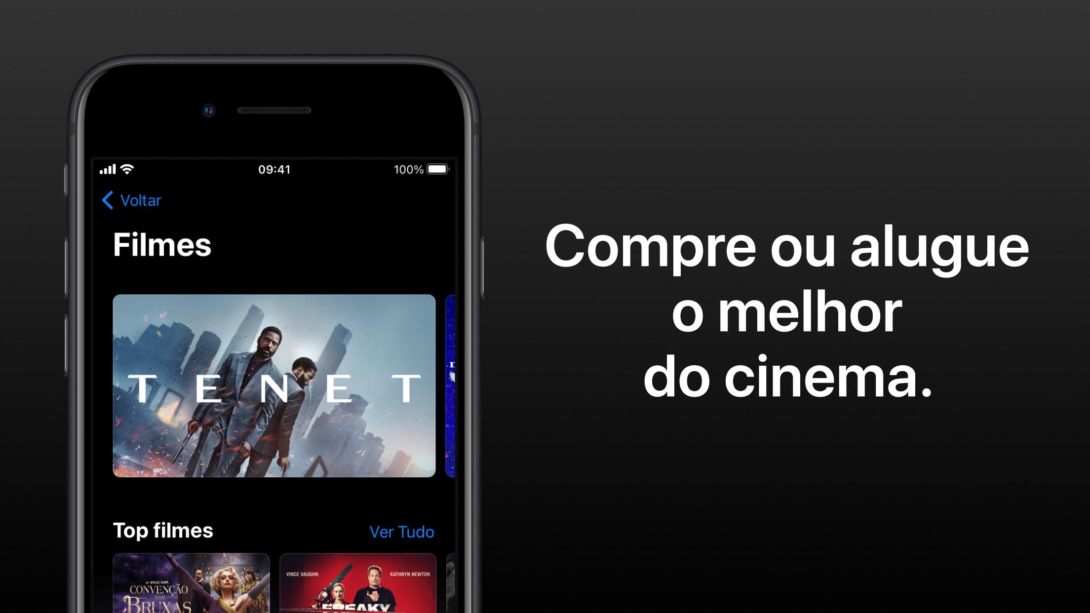 Screenshot do app Apple TV