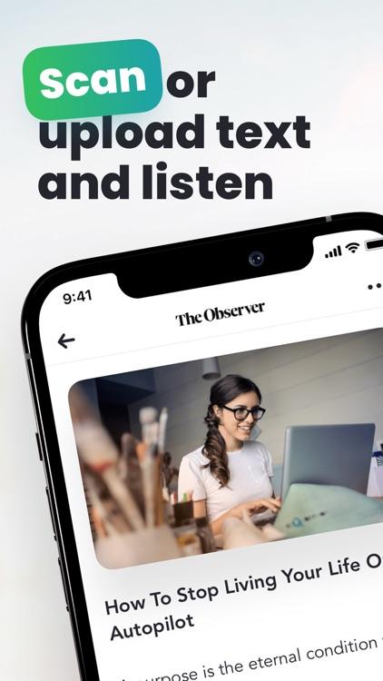 Peech: #1 Audio Text Reader screenshot-4