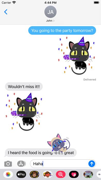 Screenshot of Cat Family Sticker Pack App