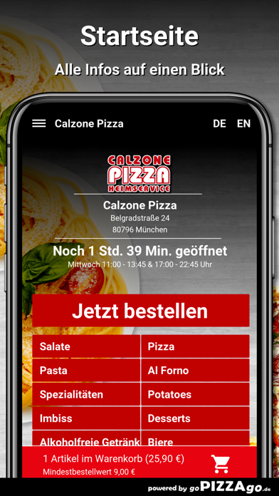 Calzone-Pizza München screenshot 4