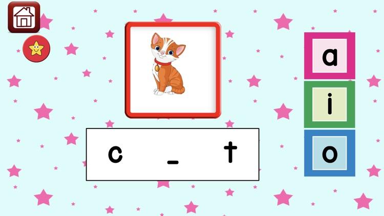 Learn 2 Read Vowels CVC Words screenshot-3