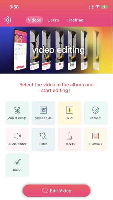 ReTkk - Manage & Edit videos screenshot 1