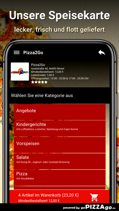 Pizza2Go Wesel screenshot 4