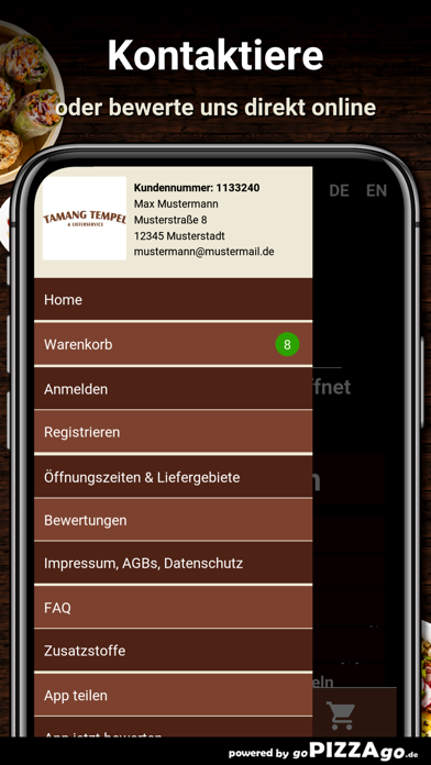 Tamang-Tempel Hamburg screenshot 3