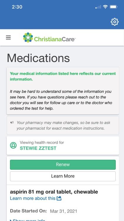 Christiana Care Patient Portal screenshot-3