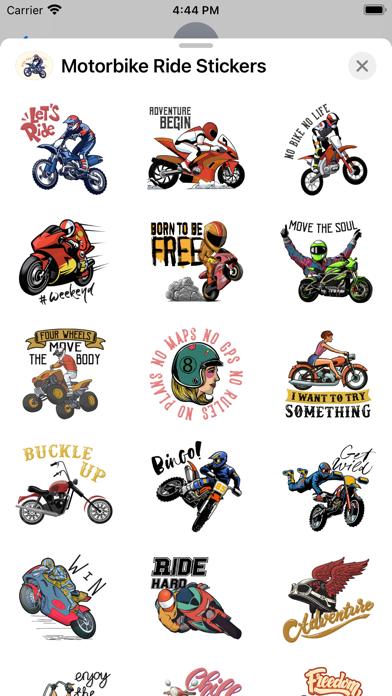 Motorbike Ride Stickers screenshot 2