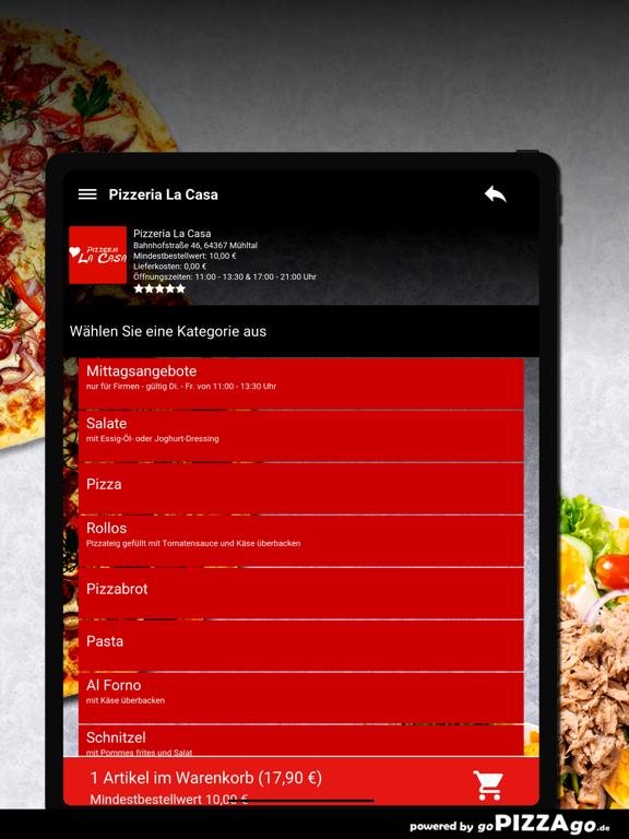 Pizzeria La Casa Mühltal screenshot 7