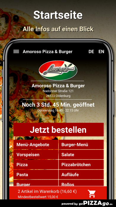 Amoroso Pizza & Burger Oldenbu screenshot 2