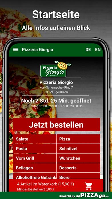 Pizzeria Giorgio Egelsbach screenshot 2