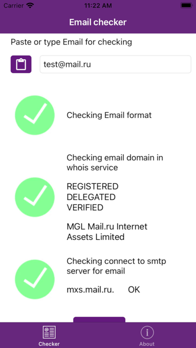 EmailChecker screenshot 1