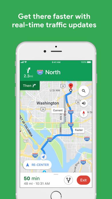 Screenshot of Google Maps App