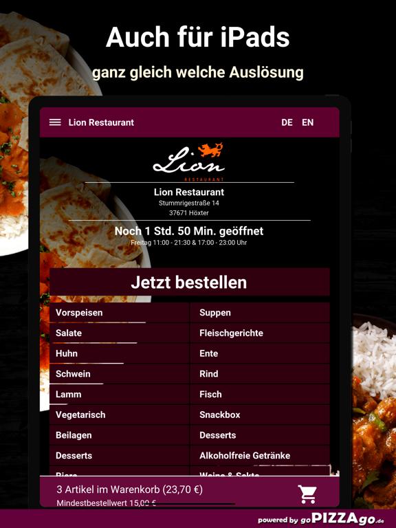 Lion Restaurant Höxter screenshot 7