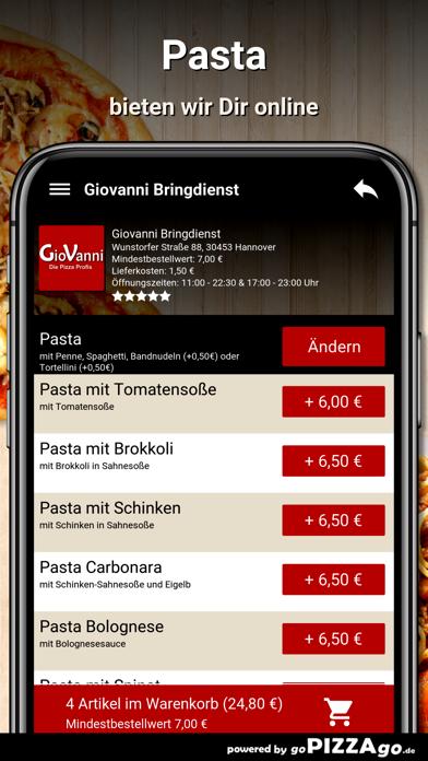 Giovanni Bringdienst Hannover screenshot 5