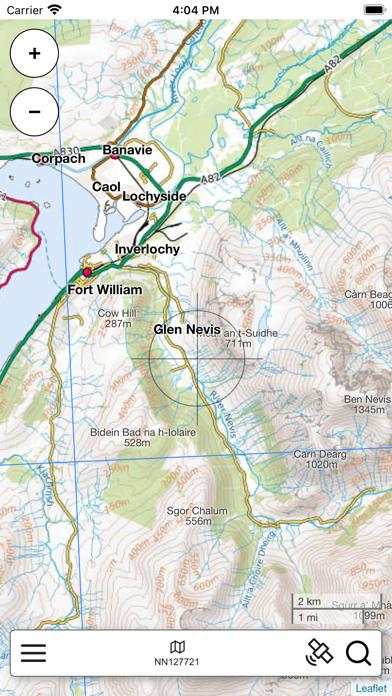 Ben Nevis, W Scotland Map Pro screenshot 2