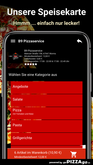 B9 Pizzaservice Worms screenshot 4