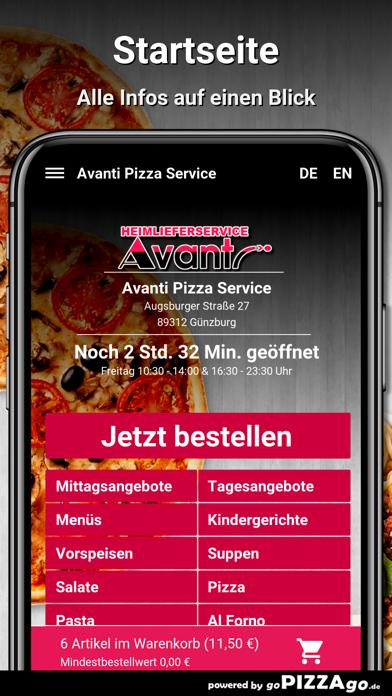 Avanti Pizza Service Günzburg screenshot 2