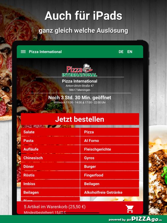 Pizza International Meiningen screenshot 7