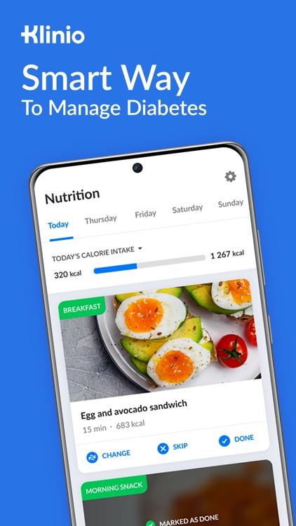 Klinio, diabetic diet log