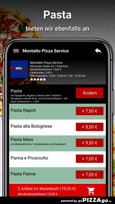 Montalto Pizza Service Korb screenshot 6