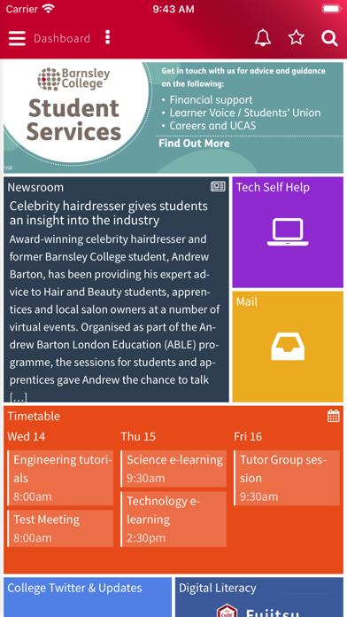 Barnsley College MyDay screenshot 1