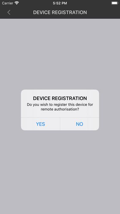 Screenshot of AGCE Authorization APP App