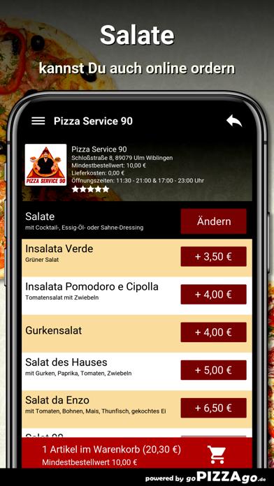 Pizza Service 90 Ulm Wiblingen screenshot 5