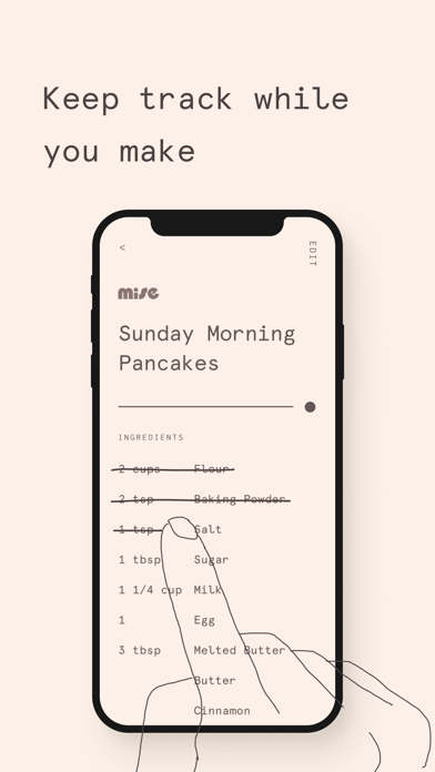 Screen Shot Mise: A minimalist recipe box 5