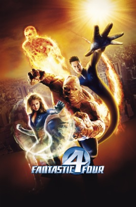 Poster of Fantastic Four 2005 Full Hindi Dual Audio Movie Download BluRay 720p