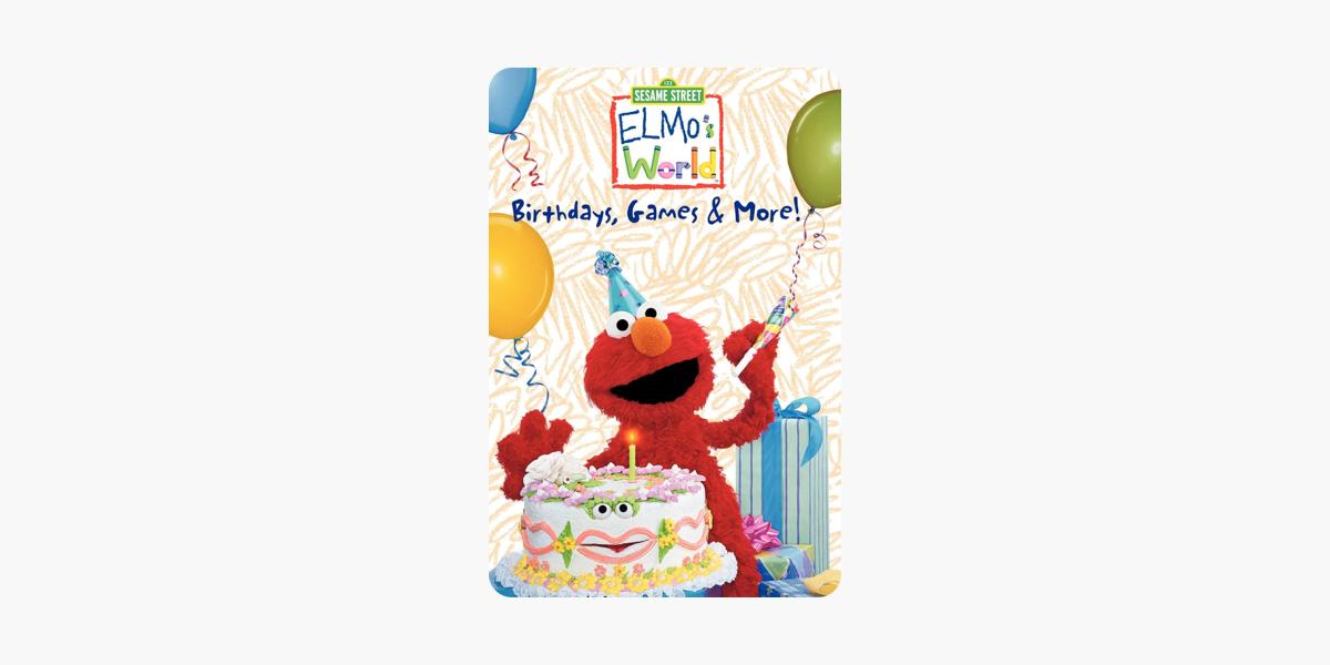Elmo S World Birthdays Games More On Itunes