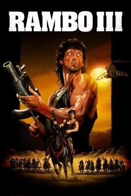 Poster of Rambo III 1988 Full Hindi Dual Audio Movie Download BluRay 720p