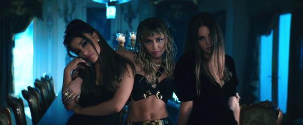 Ariana Grande, Miley Cyrus & Lana Del Rey -  music video wiki, reviews